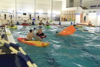 На фото: Тренировки в бассейне ДФК ПГУПС
