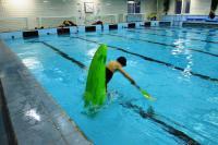 Открытый Чемпионат СПБ по фристайлу на гладкой воде в бассейнах 2014. 1я попытка в кат. К1-М