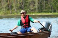 Июльские родео-сборы, Финляндия(Лиекса). Вот такой вот лодочник)))