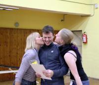 Открытый Чемп. СПб по фристайлу на гладкой воде 2013. Награждение. Женя счастлив)))